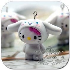 Set of 3 Pcs X 38MM X 50MM Hello kitty Pendant / by Misutikku, $8.29