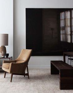 Photo by Giorgio Possenti. *large dark abstract, walnut, caramel colour armchair