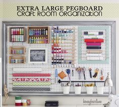 If you're an organizer, this huge pegboard organization system will make your heart go pitter-patter!