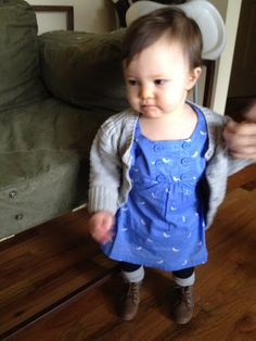 Love the blue bird dress with ruffle but!