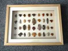 Paleolithic Arrowheads in 3D Frame, Authentic Saharan Artifacts 70,000BC (0025)