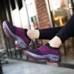 🔥🔥 OF CUSTOMERS BUY 3 OR MORE 🔥🔥Autumn Sneakers Women Just For You ! Spring sneakers flats platform shoes breathable fly mesh slip on tennis creepers shoes Moda Sneakers, Sneakers Mode, Running Sneakers, Casual Sneakers, Sneakers Fashion, Casual Shoes, Yeezy Fashion, Fashion Shoes, Sock Shoes
