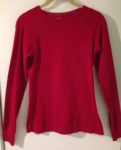 $1.99 @EBAY   AERIE Ladies Petite S Red Long Sleeve Comfy Casual Thermal Top #Aerie #Thermal #Casual