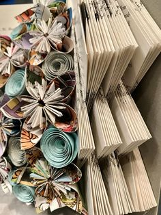 1950s Elementary Metallurgy textbook, hand folded and filled with colorful paper flowers, hand made from pages of a Calvin & Hobbes anthology book that had been discarded from a local school library. Book is free standing and ready to place on your mantle, bookshelf, etc. Item