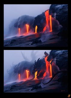 If dragons breath fire, then does that mean they drool lava?
