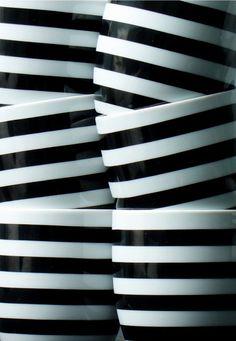 ✩ black & white #stripes ✩