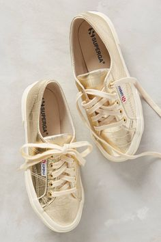 Gold Superga Sneakers