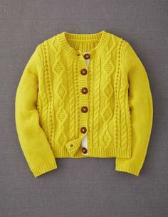 Cosy Cable Cardigan - Mini Boden Inspiration only. This is a site that sells kids clothing for ages 18 months to 14 years