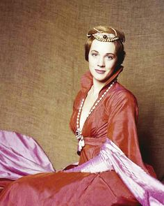 "Julie Andrews in ""Camelot."""