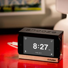 Snooze Bar Alarm Clock for iPhone   http://dudebrogifts.com/snooze-bar-alarm-clock-for-iphone/