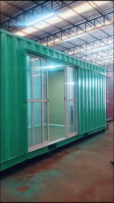 Cargo Container Homes, Shipping Container Home Designs, Container Shop, Building A Container Home, Container Buildings, Container Architecture, Container House Design, Tiny House Design, Shipping Container Workshop