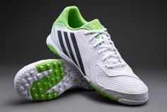 adidas Football Boots - adidas Freefootball x-ite Boots - Fives - Soccer Cleats - Running White-Night Metallic-Ray Green