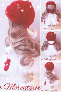 Fabric doll Rag doll Handmade doll Tilda doll Textile doll Red doll Cloth doll Interior doll Nursery doll Soft doll Baby doll by Elena M