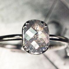 1.11 carat grey natural diamond ring. chincharmaloney.com