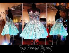100MD085140325-AQUA/SILVER.  This Short Dress is Simply Fabulous with its silver Bodice cascading into the Aqua Skirt! Only at Rsvp Prom and Pageant... http://rsvppromandpageant.net/collections/short-dresses/products/100md085140325-aqua-silver
