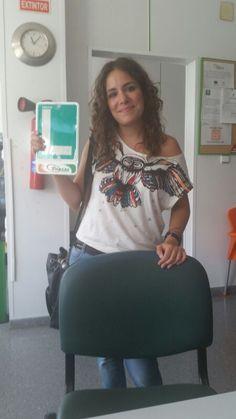 Candela Celia Cabrera desde la oficina de Puerto de la Torre