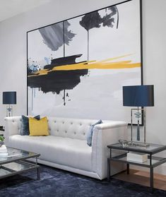A living room decor where modern works with classic. Our BELMONT luxury sofa upholstered in a GPJ Ba… – Home decoration ideas and garde ideas Next Living Room, Artwork For Living Room, Living Room Modern, Living Room Furniture, Office Furniture, Furniture Decor, Furniture Design, Furniture Market, Cheap Furniture