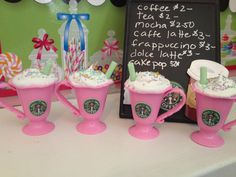 Set of 4 American Girl Starbucks Drinks by lilyvictoria on Etsy