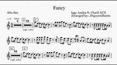 Fancy - Iggy Azalea ft Charli XCX (Saxophone Sheet Music)
