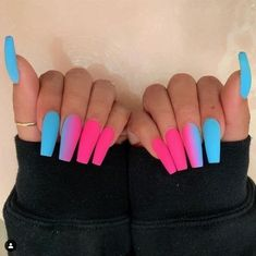 In search for some nail designs and ideas for your nails? Here's our list of 28 must-try coffin acrylic nails for fashionable women. Cool Nail Designs, Acrylic Nail Designs, Colorful Nail Designs, Art Designs, Design Art, Nagel Hacks, Glow Nails, Matte Nails, My Nails