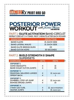 Posterior Power Program - Get strong, shapely glutes
