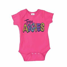 Texas A/&M University Aggie Baby Girls Frilly Infant Jumpsuit Size 06m