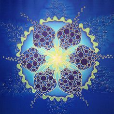 ⊰❁⊱ Mandala ⊰❁⊱ Silk Mandala by Mayra Andrea Kanne I