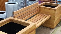 Planter bench with back