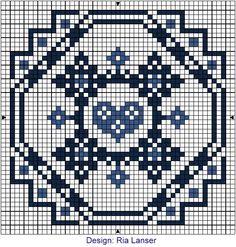 Delft Blue Biscornu Pattern