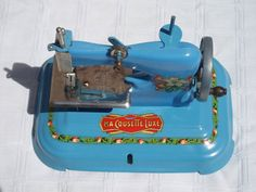French Toy Sewing Machine Child's Model Ma by FrenchVintageTextile