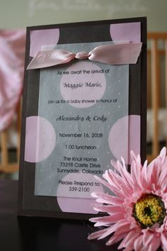 baby shower invitation ideas for girls - Google Search