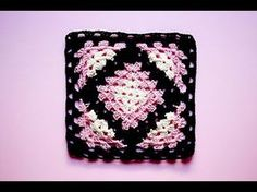 Cuadro, gramy square, kalidoscopio a crochet #tutorial #pasoapaso - YouTube