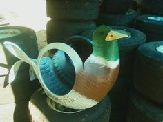 Tyres Recycle, Recycled Tires, Reuse, Upcycle, Fair Projects, Projects To Try, Tire Craft, Tire Planters, Car Part Furniture