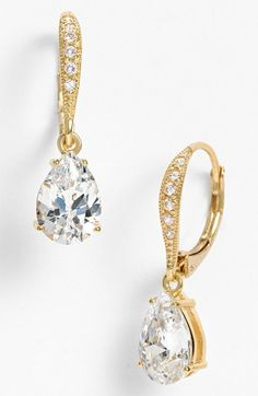 Nadri Cubic Zirconia Teardrop Earrings (Nordstrom Exclusive) available at #Nordstrom