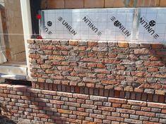 Project Mc, Brick Architecture, Brick Colors, Rammed Earth, Brick Patterns, Building Facade, Brick And Stone, Brickwork, Brick Wall