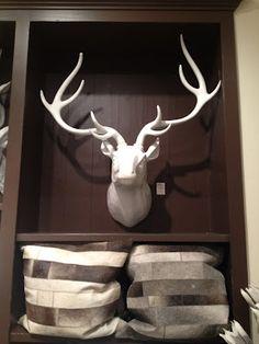 Z-gallerie white deer head