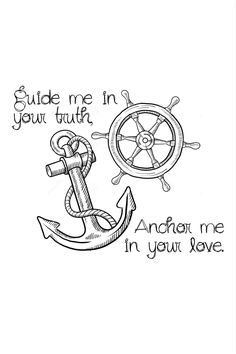 Yes! Tiny tattoo anchor tattoo ship wheel tattoo Christian/spiritual metaphor.