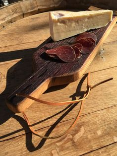 Meat & Cheese Platter Wine Barrel Stave Platter by RogueBarrelWRX
