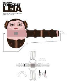 Blog Paper Toy papertoy Princess Leia template preview Princesse Leia de Bryan C. Ratliff