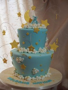 Moon, stars and clouds by Andrea's SweetCakes, via Flickr