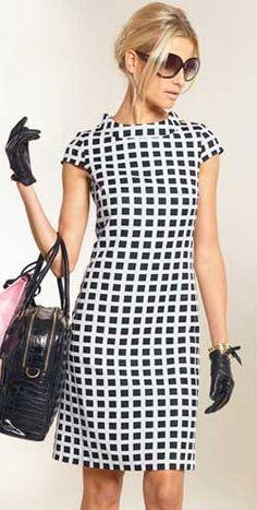Выкройка платья с рельефами - модель