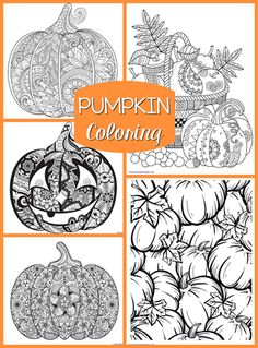 Free Printable Harvest Pumpkin Coloring Page for Fall Adult