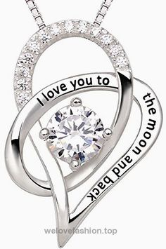 """ALOV Jewelry Sterling Silver """"I Love You To The Moon and Back"""" Love Heart Pendant Necklace  BUY NOW     $95.45    ALOV–A LOVE WITHOUT END    ALOV is our endless love to all our loved ones who have made our life meaningful and beautiful. ALOV jewelry represents love, memory and d .."""