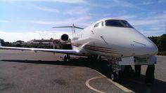 Challenger 300 private jet at Nyaung U (Bagan) Airport