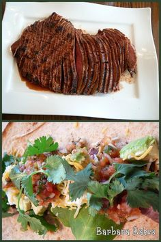 GOOD - Carne Asada Tacos from LA Dodger Stadium - used sirloin tip steak, no canola or parsley, in slow cooker brushed with evoo on low for 4 and hi for 2ish; used 1.5 chipotle peppers still too spicy for kiddo - but good!!