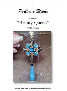 "Perline e Bijoux: Orecchini della parure ""Beauty Queen"" / ""Beauty Queen"" parure earrings"