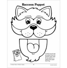 ... raccoon paper bag puppet pattern more paper bag puppets puppets