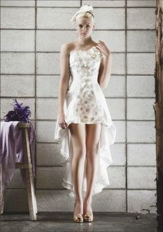 sexy high low wedding dress