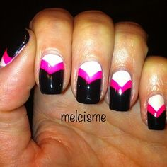 Fun french by @melcisme on IG inspired by @Chalkboard Nails.