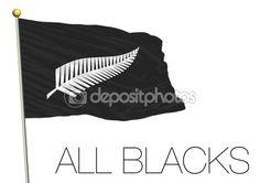 Bandierina di rugby della Nuova Zelanda — Vettoriali Stock © frizio #88981700